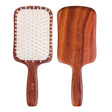 Paddle Brush Detangling Hair Brush Antistatic Wood  Massage Scalp Tan Mujiang