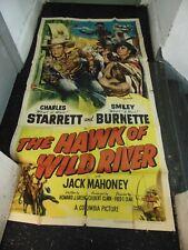 Charles Starrett The Hawk Of Wild River Original 3-Sheet Movie Poster #N1335
