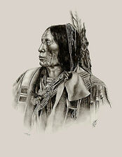 Native American Art Artwork Print Indian Chief Western Southwest White Buffalo
