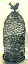 Laterne aus Metall Windlicht Kerzenhalter Standlaterne Vogelkäfig Dekokäfig Neu