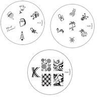 Konad Stamping Nail Art Image Plates M series M1-M106