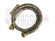 2 FT Stainless Steel Braided Propane and Natural LP Gas Hose