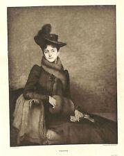 JULES LEFEBVRE GRAVURE YVONNE HELIOGRAVURE BRAUN CLEMENT 1901