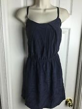 Sexy Aqua Bloomingdale's Woman's Small Cinch Waist 100% Silk Shift Dress S
