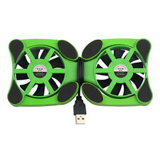 TechByte Folding Cooling Pad Laptop Notebook Cooling  Stand with 2 Fan - GREEN