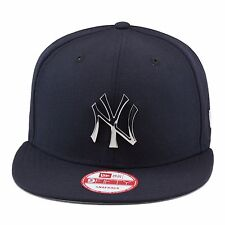 New Era New York Yankees Snapback Hat Cap NAVY/SILVER Metal Badge mlb