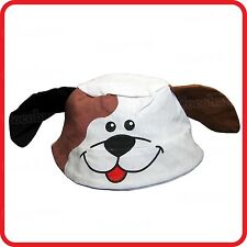 KIDS CHILDRENS BOYS GIRLS CUTE DOG PUPPY BUCKET FISHING BEANIE HAT-PARTY-COSTUME