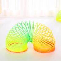 2 X Plastic 6.5cm Rainbow Spring Slinky Toy Type Strechy Springy Classic Kids