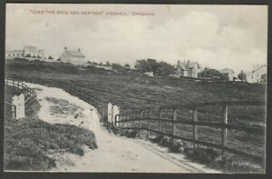 Postcard Heswall Cheshire houses Over The Rock and Heather posted 1917