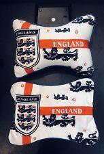 England Car Seat Head Neck Rest Cushion Cover / Pillowcase 1 Pair