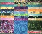 Batik charm squares/scraps/remnants - 100% cotton