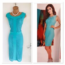 Frank Lyman Blue Bodycon Dress With Cut Out Detail Uk Size 16