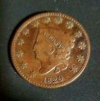 1829 LARGE CENT CLASSIC HEAD . MEDIUM LETTERS  VG+