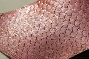 Real fish leather skin Tilapia glittering Sequin
