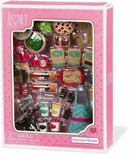 LORI Doll Gourmet Market Mini Play Food Accessories Set, Very Detailed Mini Food