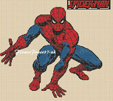 Cross stitch chart  Spiderman 1  FlowerPower37-uk FREE UK P&P