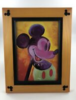 NEW Disney Wooden Mickey Mouse Icon 5 x 7 in  Photo Picture Frame