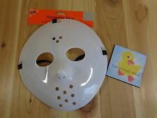 Horror Monster Hockey Mask White Plastic Adult One Size Halloween