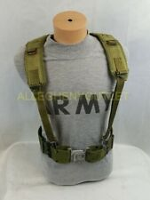 US ARMY MILITARY MEDIUM PISTOL BELT & Y SUSPENDERS SET LBE ALICE WEB GEAR VGC