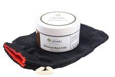 MOROCCAN BLACK SOAP / BELDI / SAVON NOIR FOR SPA & HAMMAM 220g + KESSA GLOVE
