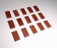 LEGO (3069) 15 Piastrelle 1x2, in rosse-marroni da 10189 10182 75059 10196 71042 10236