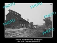 OLD LARGE HISTORIC PHOTO OF CAMERON WEST VIRGINIA, CAMERON RAILWAY STATION c1870