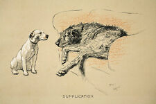 CECIL ALDIN DOG PRINT CRACKER BULL TERRIER MICKY IRISH WOLFHOUND HUNTING FARM 3