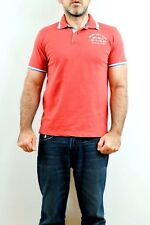 FRED MELLO NEW YORK RED POLO T SHIRT 100% Cotton Top quality Long Island M VGC