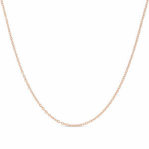 Rose Gold Plated 925 Sterling Silver 1.3mm Cable Chain Necklace 14 - 36 inches!