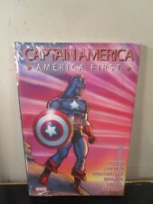 Captain America: America First Marvel Comics Hc Brand Hard Cover New Sealed~