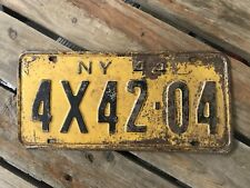 American Licence Plate USA Diner Sign Bar Cave Art New York 1944