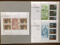 PORTUGAL Madeira Azores 1982 | Lot of 3 Europa CEPT Minisheets. VF, Mint NH.
