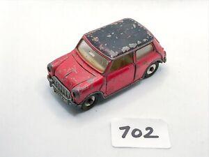 RARE VINTAGE DINKY TOYS #183 MORRIS MINI MINOR AUTOMATIC DIECAST MODEL CAR 1965