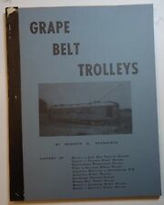 Railroad Book: Grape Belt Trolleys by Springirth -  Trolleys of Lake Erie Shore