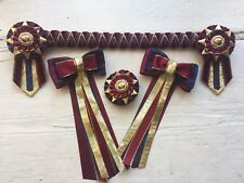 The Lindsey Showing Set  Browband/Show Bows/Buttonhole.