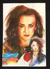1980's BOY GEORGE English singer songwriter postcard Malaysia Used!