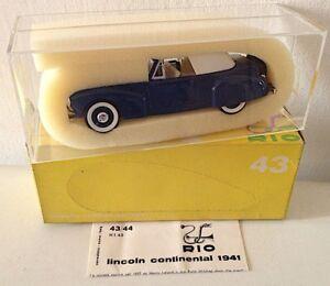 Lincoln continental 1941, modellino RIO in scala 1:43
