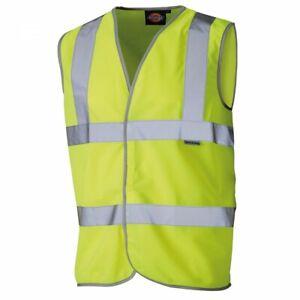 Dickies Hi Vis Safety Waistcoat - Yellow