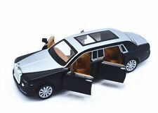 1:32 Rolls-Royce Phantom Metal Sound Light Pullback Model Car Black New