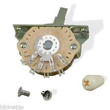 Switch, 5 Way, Oak, Grigsby with Ivory Knob, Electroswitch 081353IV