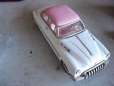 Vintage 1970s Large Pink and White Friction Standard Sedan Car