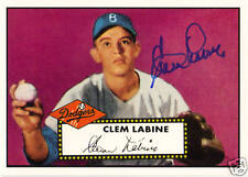 1995 Topps Dodgers Archive #25 CLEM LABINE signed card