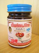 Maeparnom brand, Original Thai Chili Paste(Nam Prik Pao) for Cooking & Dip 114g.