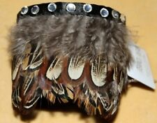TRIBAL GOTHIC GYPSY STEAM PUNK FEATHER BELLY DANCE DANCING CUFF BRACELET ARMLET