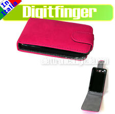 HTC WILDFIRE e G8 Nuova CUSTODIA Fodero COVER Guscio Eco PELLE ROSA SHOCKING