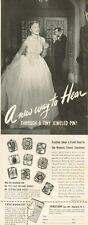 1950 Sonotone  PRINT AD    Hear through a tiny jeweled pin
