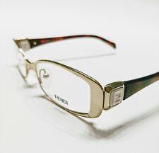 New Fendi Eyeglasses 901 Gold Brown 714 Authentic 50-18-135 w/case