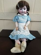 Antique German Bisque Socket Doll Head Armand Marseille 390n A1M Jointe Body 24""