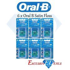6 Pack x Oral B Satin Floss Dental Floss - Mint Flavour