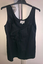 Veronika Maine ITALIAN FABRIC,MADE IN AUSTRALIA,SZ 12,BLACK SLEEVELESS TOP W/BOW